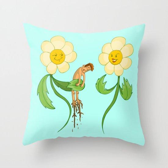 Planting Revenge Throw Pillow