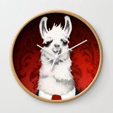 Formal Llama - Red Wall Clock