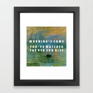 Obvious Impression Framed Art Print