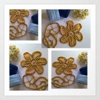 Golden Lace  Art Print