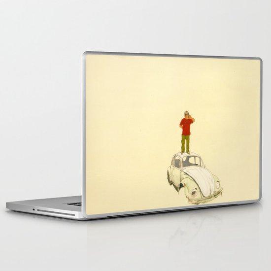 man listening the universe Laptop & iPad Skin