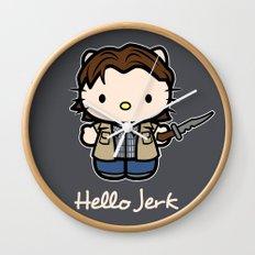Hello Jerk Wall Clock