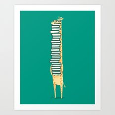 A book lover Art Print