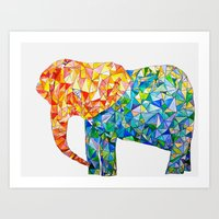 acute elephant Art Print