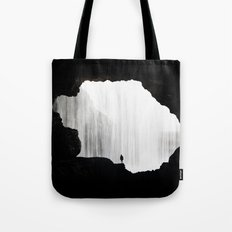 cave fall Tote Bag