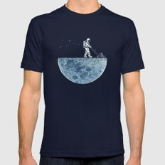 Mown Mens Fitted Tee Navy SMALL