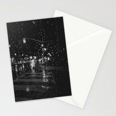 RAINY BOKEH B&W Stationery Cards