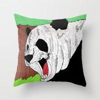 Panda ROAR! Throw Pillow