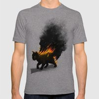 This Cat Is On Fire! Mens Fitted Tee Tri-Grey SMALL