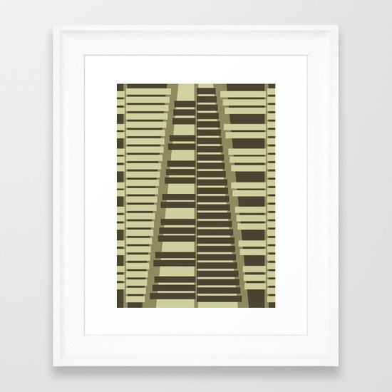 Instrumental series I - xylophone - ANALOG zine Framed Art Print