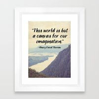 The World is a Canvas Framed Art Print