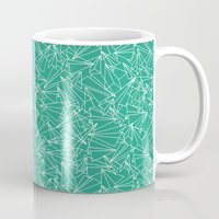 Schoolyard Aviation Green Mug