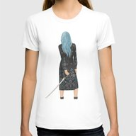 Callie Womens Fitted Tee White SMALL