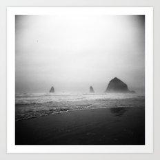 cannon beach . holga Art Print