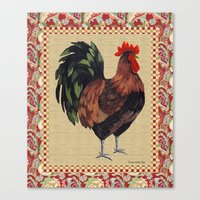 Whitney Farms Rooster 2 Canvas Print