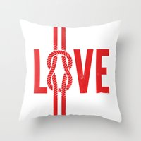 Love Knot (Red) Throw Pillow