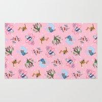 Sailor Kitties Pink Pattern Rug