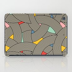 Modern Scandinavian Multi Colour Color Curve Graphic iPad Case