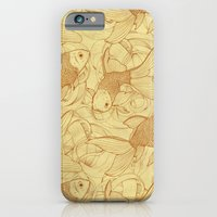 iPhone & iPod Case featuring Vintage Goldfishes II by Mike Koubou