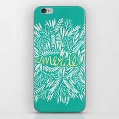 Pardon My French – Gold on Turquoise iPhone & iPod Skin