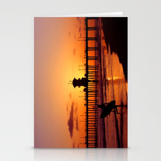 Surfers Sunset Stationery Card