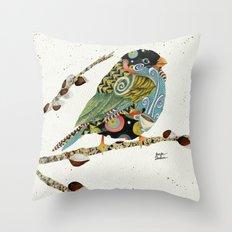 Cafe Swirly Bird 4 Throw Pillow