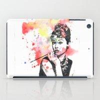 Audrey Hepburn Painting iPad Case