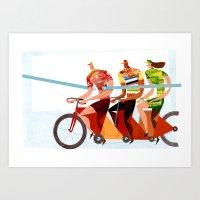 Bicycle Tour De France T… Art Print