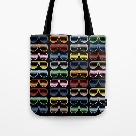 Rainbow Shutter Shades at Night Tote Bag