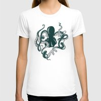 The Dark Sea Womens Fitted Tee White SMALL