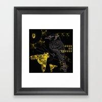 Bird & Beetles Framed Art Print
