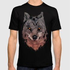 Wolf Mother SMALL Mens Fitted Tee Black