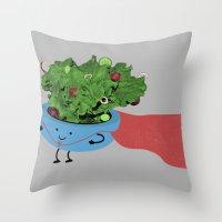 Super Salad Throw Pillow