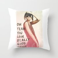 LOOK GOOD Throw Pillow