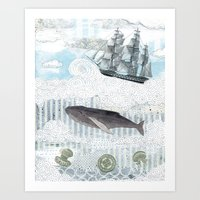 The Ocean Blue II Art Print