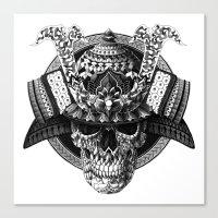 Samurai Skull Canvas Print