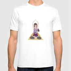Yoga Girl SMALL Mens Fitted Tee White