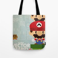 Mario Bros 2 Fan Art Tote Bag