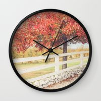 Autumn at the Orchard Wall Clock