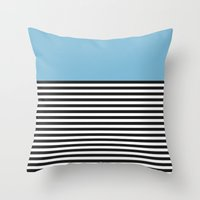 STRIPE COLORBLOCK {DUSK … Throw Pillow
