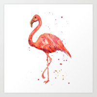 Flamingo, Pink Flamingo,… Art Print