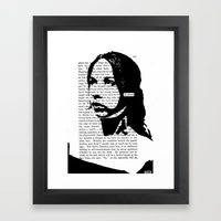 Be Afraid Framed Art Print