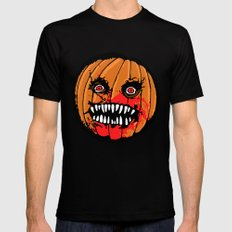 Jack-o-Lantern Mens Fitted Tee Black SMALL