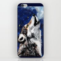 Wolf's breath iPhone & iPod Skin