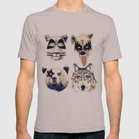 Give me a kiss Mens Fitted Tee Cinder SMALL