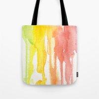 Rainbow Watercolor Tote Bag