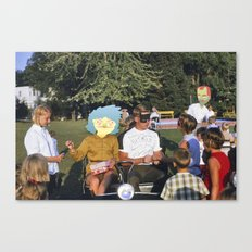 Autographs in a Golf Cart  Canvas Print