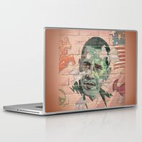 obama Laptop & iPad Skins featuring Obama Wall by Moshik Gulst