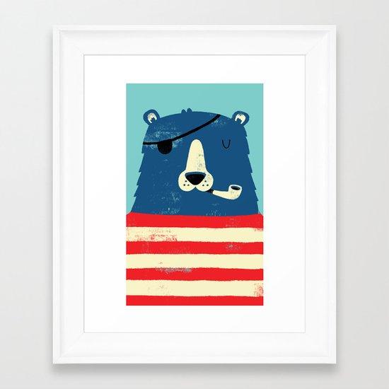 One Eyed Pete Framed Art Print