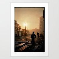 Foggy City Art Print